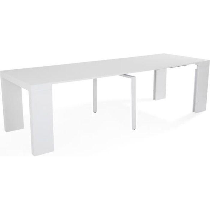Console extensible 270 cm - Laqué blanc brillant