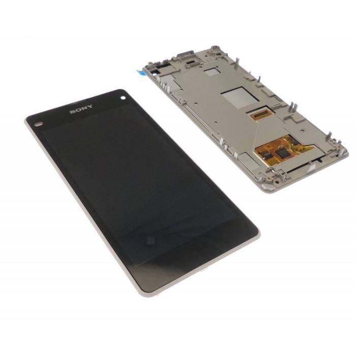 ECRAN LCD + VITRE TACTILE SONY XPERIA Z1 COMPACT D5530 ORIGINAL BLANC