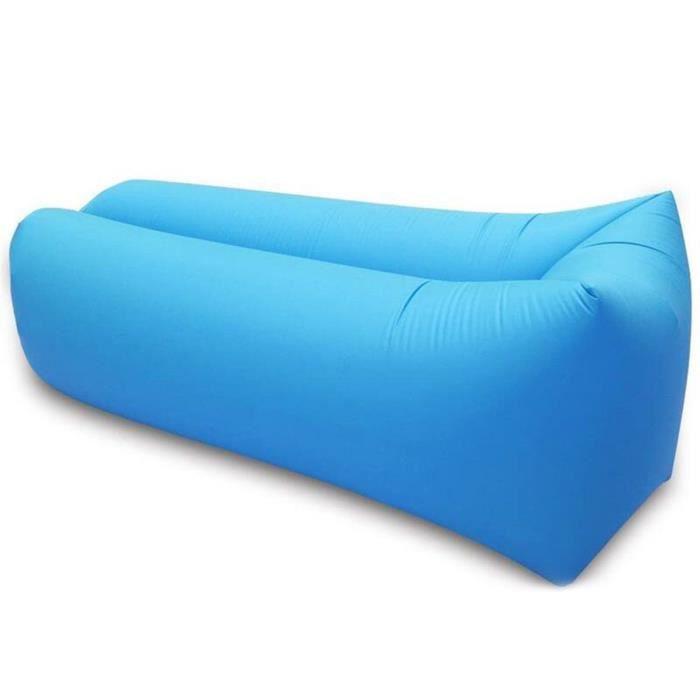 TD® Lit Sofa Canapé bleu hamac gonflable/Canapé de Plage/de jardin, camping /Piscine Plein Air/ 205x70 cm / Solide et résistant