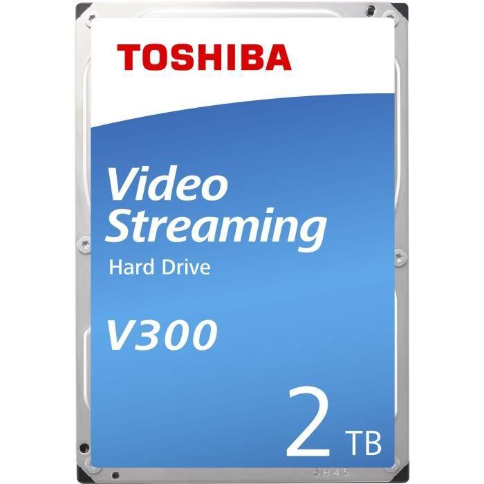 TOSHIBA - Disque dur Interne - V300 - 2To - 5 700 tr/min - 3.5- (HDWU120UZSVA)