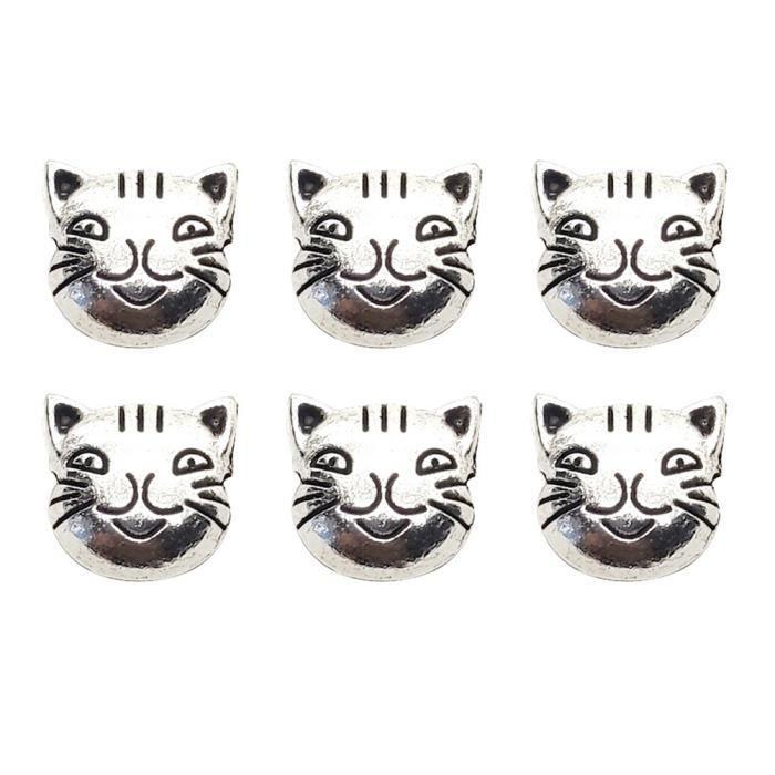 50 pcs Perle En Alliage Décoratif Petit Charme Portable Fabrication de Bijoux Accessoires Spacer BRACELET - GOURMETTE - JONC