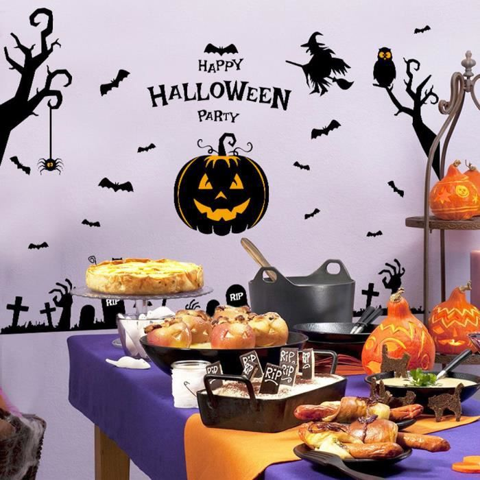 Exquisgift Pvc Festival Decor Halloween Sorciere Citrouille