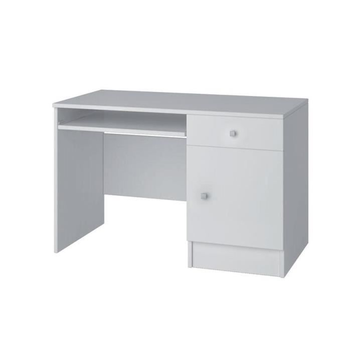 bureau blanc miko 110 cm achat vente bureau bureau blanc miko 110 cm soldes cdiscount. Black Bedroom Furniture Sets. Home Design Ideas