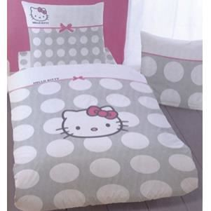 parure de couette hello kitty dotty 200x200 ensemble housse de couette 200x200 cm 2 taies. Black Bedroom Furniture Sets. Home Design Ideas