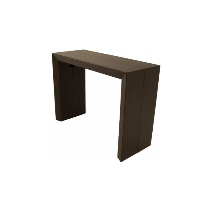 Table console extensible 4 allonges teinte weng achat vente console exte - Console extensible cdiscount ...