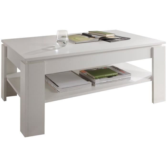 Table Basse Design Coloris Blanc Achat Vente Table Basse Table Basse Design Coloris