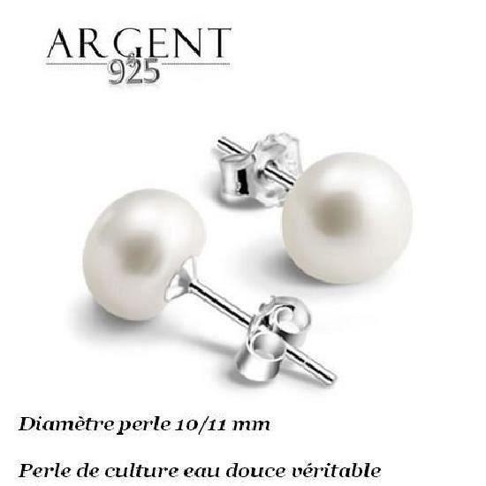 PLANETYS Pendentif Perle de Culture 2 Tons Argent 925 et Plaqu/é Or