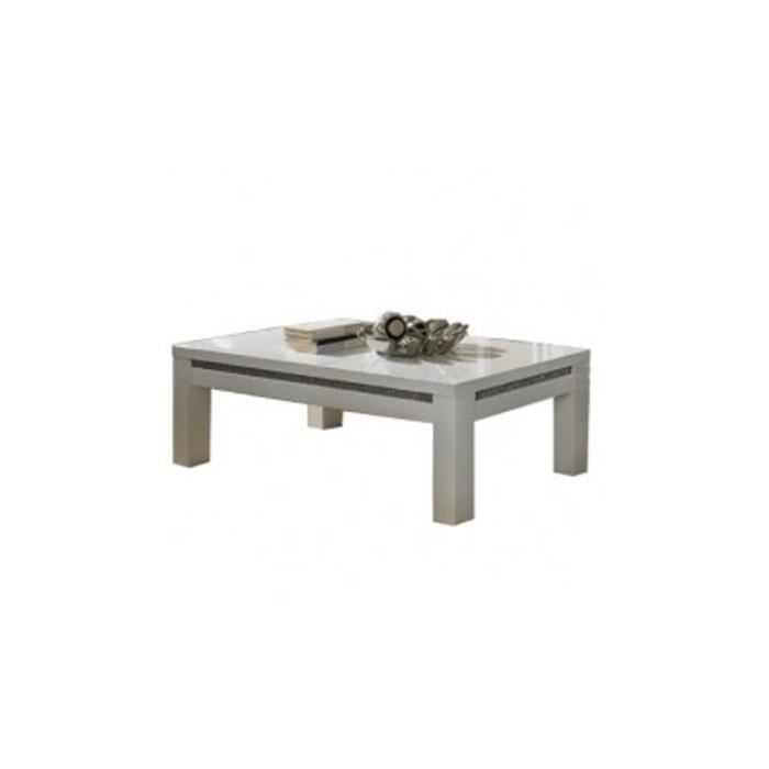 Table basse salon prestige blanc achat vente table basse table basse salo - Table salon cdiscount ...
