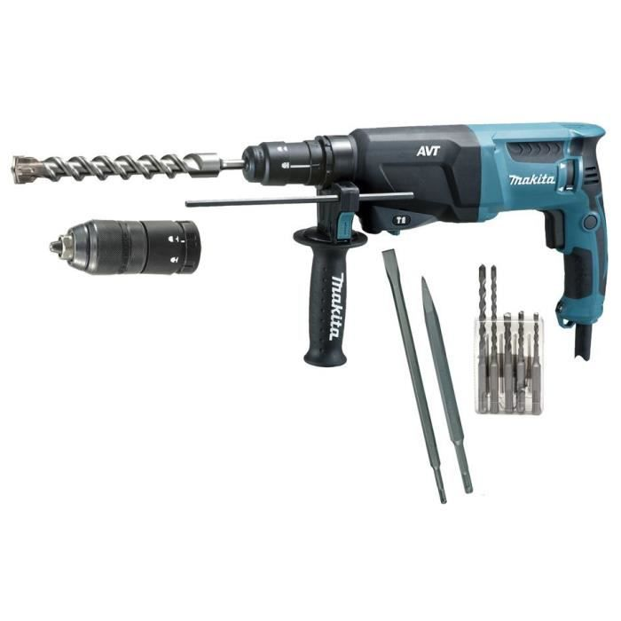 makita perforateur burineur avt 800w accessoires achat. Black Bedroom Furniture Sets. Home Design Ideas