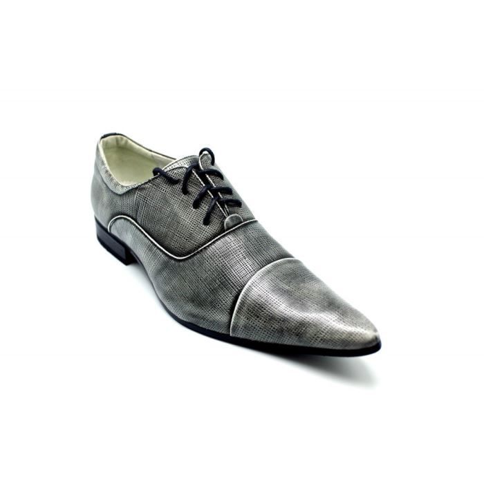 chaussures homme pointu gris gris achat vente derby cdiscount. Black Bedroom Furniture Sets. Home Design Ideas