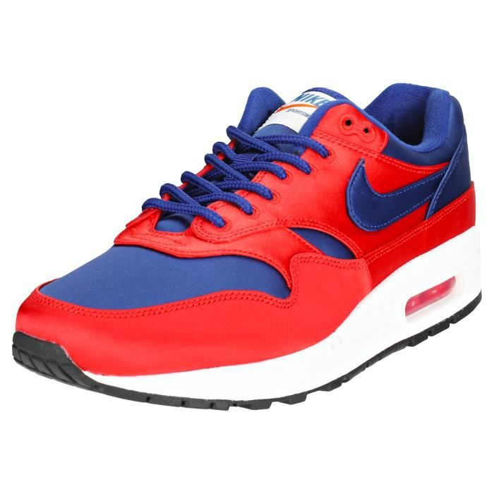 reputable site 08ac9 bc036 BASKET Nike Air Max 1 Se Homme Baskets rouge Bleu