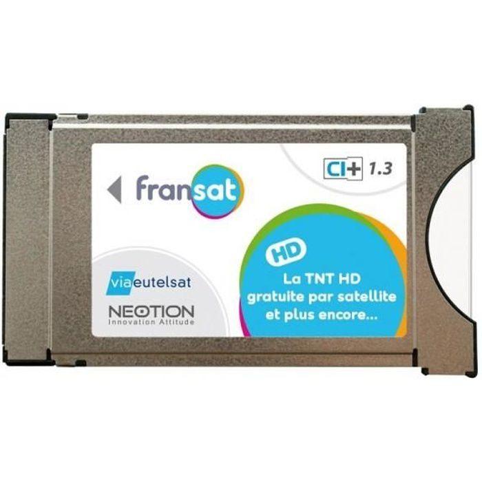 CARTE TUNER TV MODULE PCMCIA FRANSAT CI+ Dernière Version 1.3