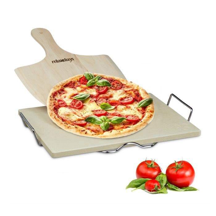 FOUR À PIZZA Relaxdays 10020488 Pierre à Pizza 1,5 cm épaisseur