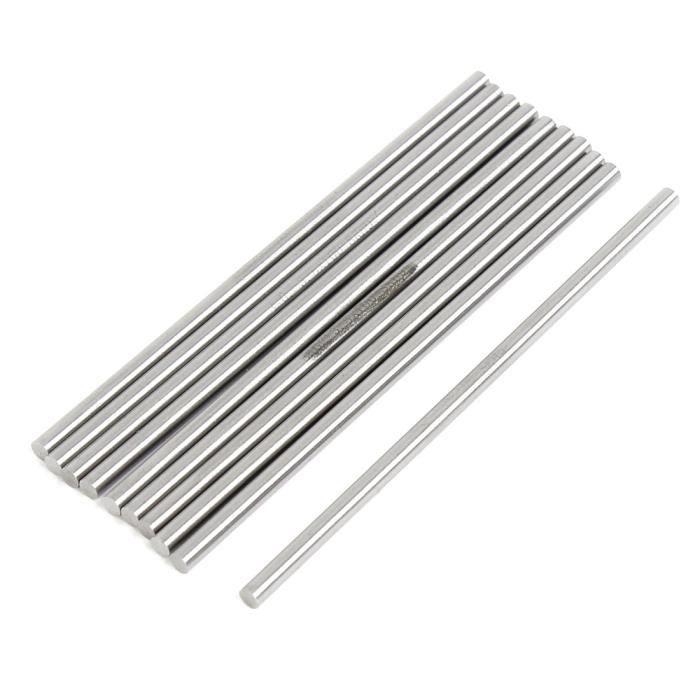 Lot de 24 embouts ronds 7 mm pour Tube fil tige métal acier