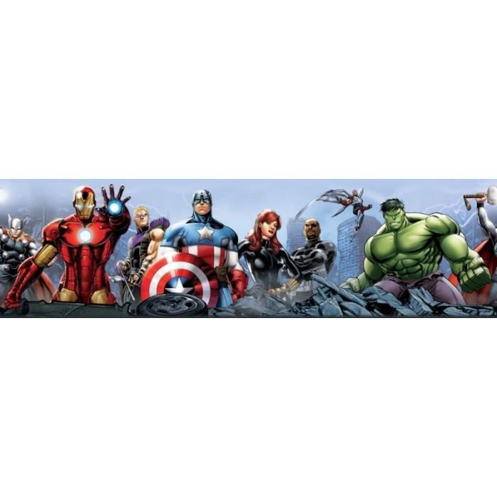 A été 6 Décorations Murales Stickers Marvel Comics Multi Set