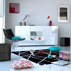 enfilade salle a manger grande longueur achat vente pas cher. Black Bedroom Furniture Sets. Home Design Ideas