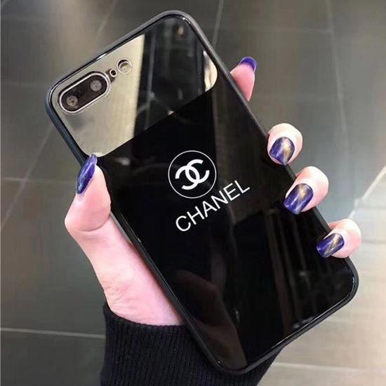 CHANEL Coque iPhone XR, avec Mode Miroir Maquillage-verre trempé ...