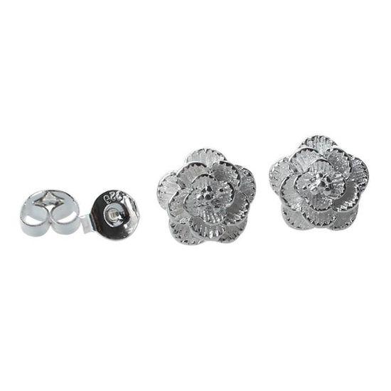 1 paire de boucles d/'oreille//clous d/'oreille plaque d/'argent//bijoux tordus tr MI
