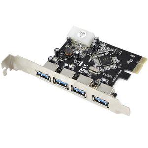 CARTE CONTROLEUR 4 ports Pci-e carte d'extension USB 3.0 PCIe PCI E