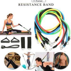 5//11//17pcs Bandes de Résistance Lot Yoga Exercice Fitness Bande Caoutchouc Boucle Tube Bande