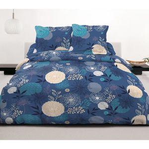 HOUSSE DE COUETTE SEULE Housse de couette Japan bleu 220X240 + 2 taies d'o
