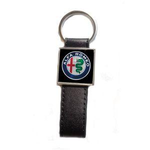 Porte-cl/és Simili Cuir Sport Logo Alfa Romeo