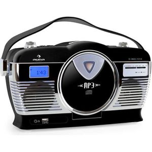 RADIO CD CASSETTE auna MCP-69 - Poste radio vintage avec lecteur CD