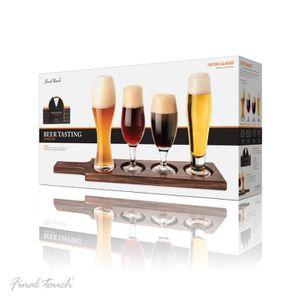 Verre à bière - Cidre Final Touch 6 Piece Set Palette de service bois fo