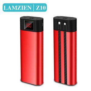 BATTERIE EXTERNE LAMZIEN®10000mAh Batterie portable PowerBank, Avec