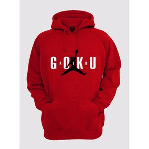 SWEATSHIRT Sweat shirt à capuche Air goku rouge