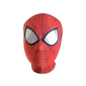 MASQUE - DÉCOR VISAGE Masque Spiderman Cosplay Lycra 3D Enfant Lentille