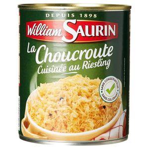 VIN BLANC William Saurin Choucroute Au Riesling 810g (lot de