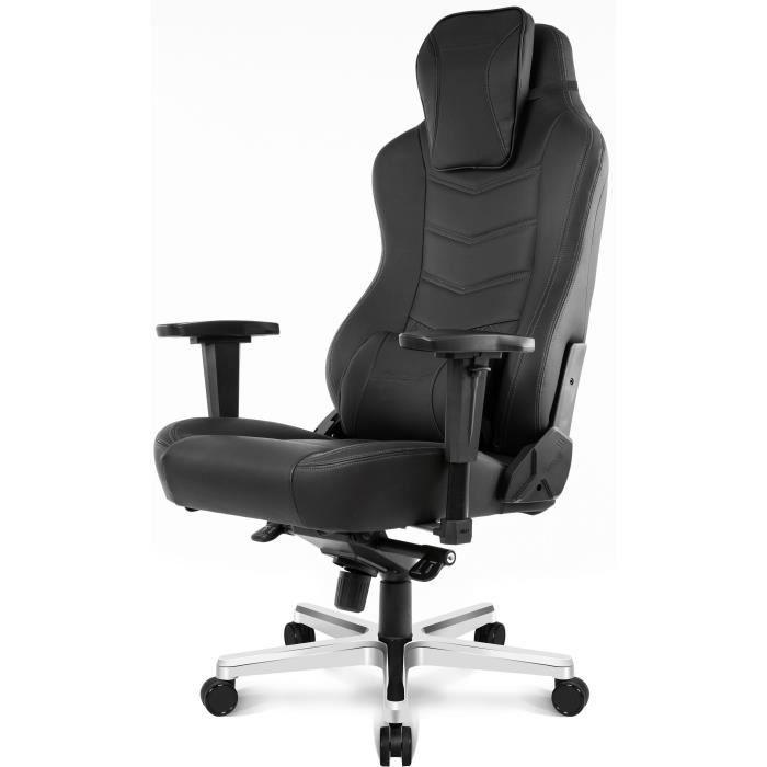 AKRACING Series Office ONYX - AKONYXBL - Siège Confort de bureau très haut de gamme full options en cuir polyuréthane - Noir