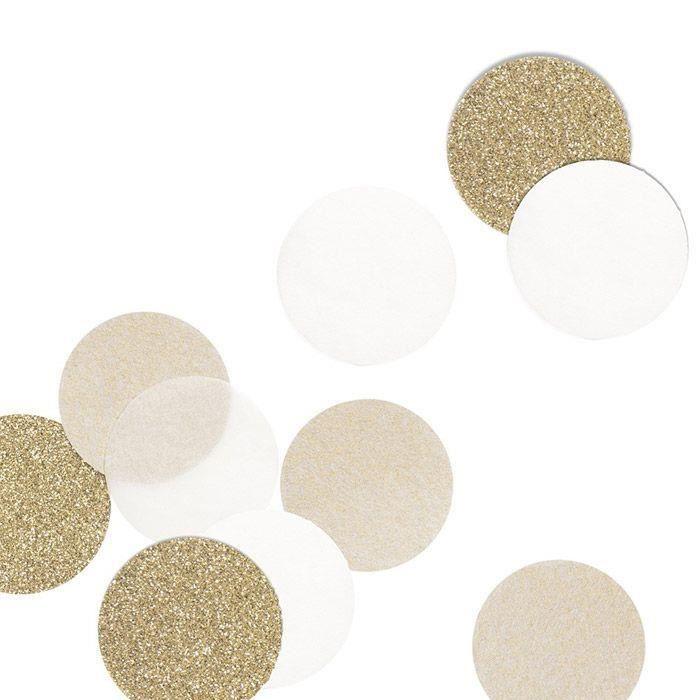 30 confettis beige et doré