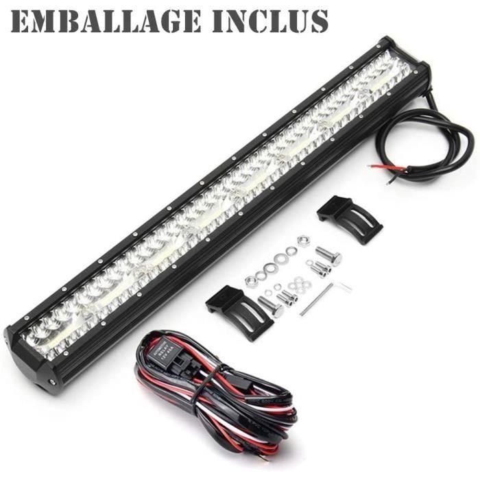 barre de travail à 3 LED, 23 pouces, faisceau combiné, pour camion, SUV, ATV, 4x4, 4WD, 12/24v
