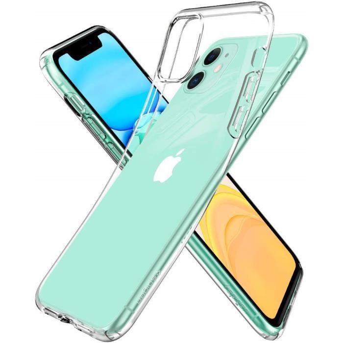 Coque iPhone 11 Transparente Antichoc Silicone Bumper