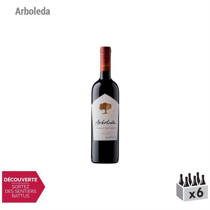 Cabernet Sauvignon Rouge 2014 - Lot de 6x75cl - Arboleda - Appellation ... Chili - Vin Rouge - Origine Chili - Cépage Cabernet