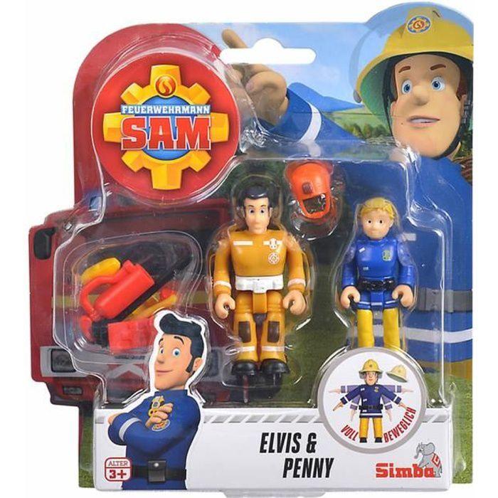 Pompier Sam Elvis et Penny Figure Set -Taille environ: Penny 6,5 cm & Elvis 7,0 cm -Matière: plastiqueConvient aux enfants à