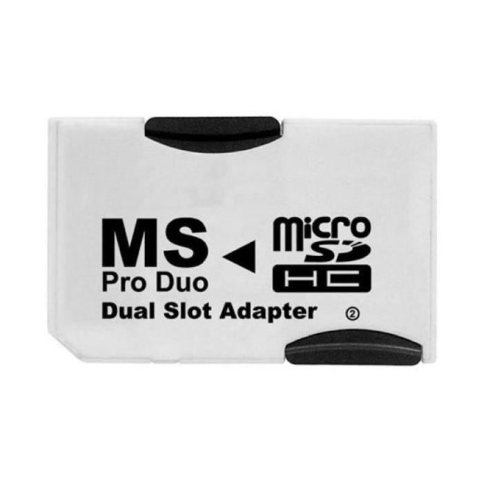 Adaptateur Pro Duo pour MicroSD DUAL (pour 2x MicroSD)