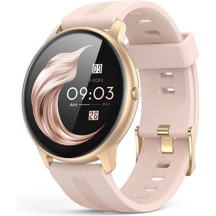 AGPTEK Montre Connectée Femme, Smartwatch Bluetooth 5.0 Tracker d'Activité avec Fréquence Cardiaque Podomètre Sommeil Contrôle de la