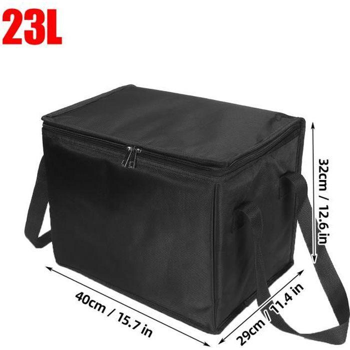 sac de livraison isotherme traiteur Repas chaud et Froid - Sac pizza /Restaurant/Pique nique noire 40x29x32cm