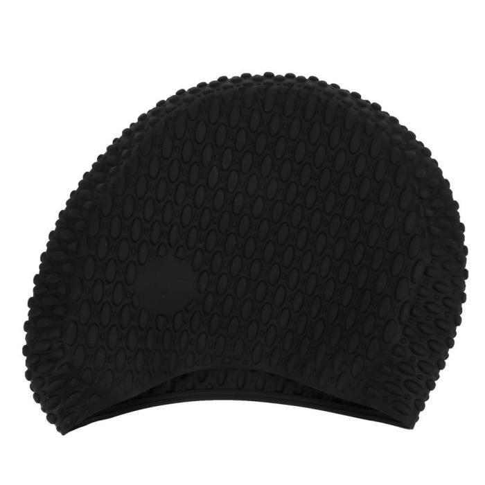 ARAMOX Bonnet de bain pour cheveux longs (Seiche noir )