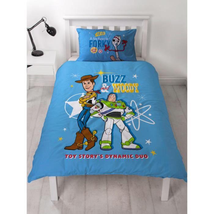Ensemble housse de couette et taie d'oreiller Toy Story 4 Rescue Junior