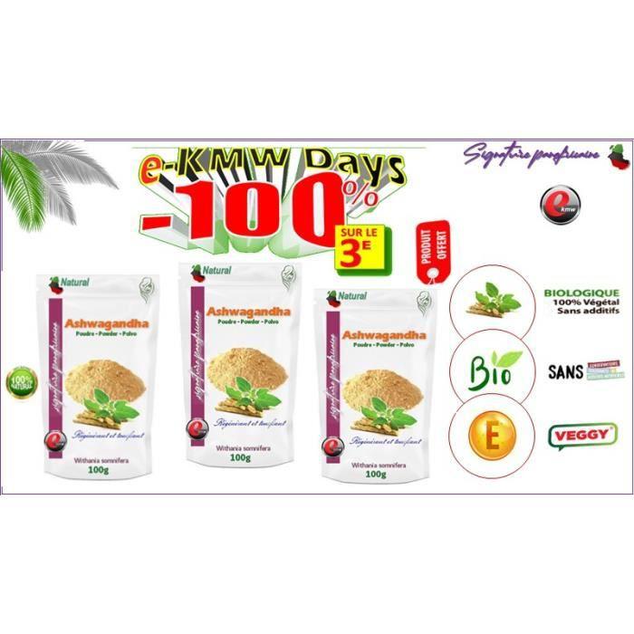 Ashwagandha bio en poudre -signature panafricaine 100 g