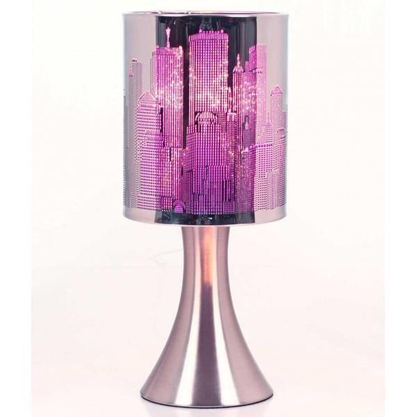 Lampe Touch New-York City a variateur Modele Mauve