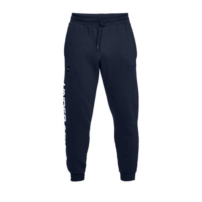 Pantalon de survêtement Under Armour RIVAL FLEECE SCRIPT JOGGER - Ref. 1322030-408