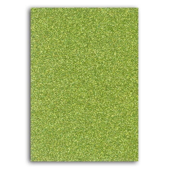 Oh ! Glitter Carnet d'idée glitter à décorer - 7x10cm - vert