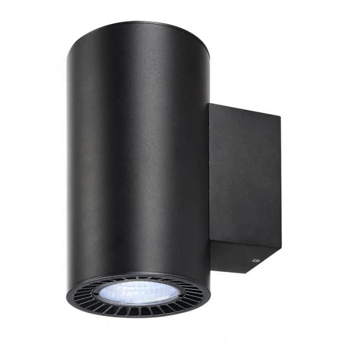 SUPROS, applique up down, rond, noir, 4000K, SLM LED, réflecteur 60°