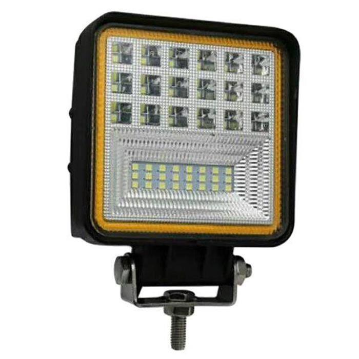 1 PièCes Voiture LED Barre Lumineuse 4 Pouces 6000K 126W LED Conduite Travail LumièRe Lampe Phare Hors Route pour 4X4 Camion SUV