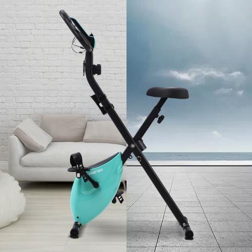 Vélo d'appartement pliable Bleu -POU CYAN5625